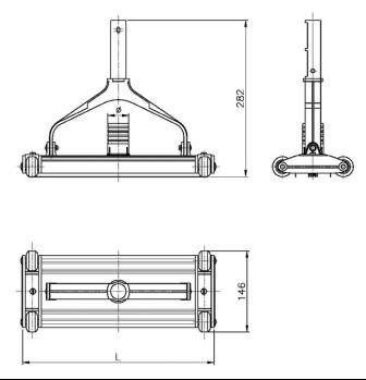 aspirateur piscine en aluminium anodis astralpool nettoyage facile. Black Bedroom Furniture Sets. Home Design Ideas