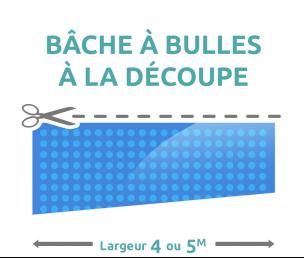 Bâche à Bulles Dété à La Découpe Largeur Ou Mètres Microns - Baches a bulles pour piscine sur mesure