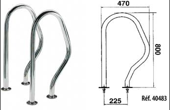 Sortie de bain inox avec deux ancrages ext rieurs 40497 for Sortie de bain piscine