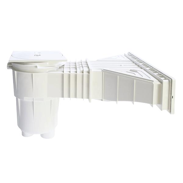 Skimmer miroir liner gamme norm plomberie clairage for Piscine miroir liner