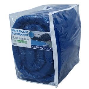 Bâche à bulles bleue - 230 µ - Ovale - 7,30 m x 3,70 m