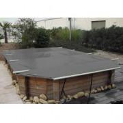 Wood Securit Plus Gris/Gris - largeur int. bassin <= 4,60m - Fix. piton bois