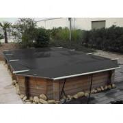 Wood Securit Plus Gris m/Gris m - largeur int. bassin <= 4,60m - Fix. piton bois