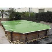 Wood Securit Plus Amande/Beige - largeur int. bassin <= 4,60m - Fix. piton bois
