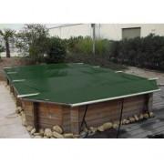Wood Securit Plus Vert/Beige - largeur int. bassin <= 4,60m - Fix. piton bois