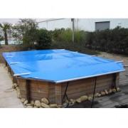 Wood Securit Plus Bleu/Beige - largeur int. bassin <= 4,60m - Fix. piton bois