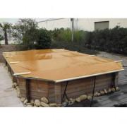 Wood Securit Plus Havane/Havane - largeur int. bassin <= 4,60m - Fix. piton bois