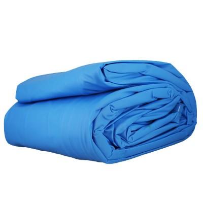 Le Liner uni bleu pour piscine 6,10 m x 3,75 m x 1,32 m - 40/100e - Pour rail d'accroche (non fourni)