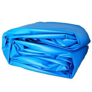 Liner uni bleu pour piscine 8 m x 4,70 m x 1,32 m - 40/100e - Pour rail d'accroche (non fourni)