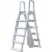 Escalier moulé pour piscines hauteur 1,20 m à 1,32 m