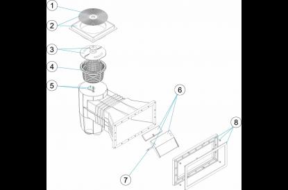 skimmer standard grande meurtri re b ton construction piscine achat sur. Black Bedroom Furniture Sets. Home Design Ideas