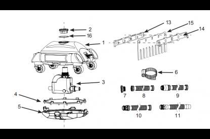 Pièces détachée Robot aspirateur de fond Intex