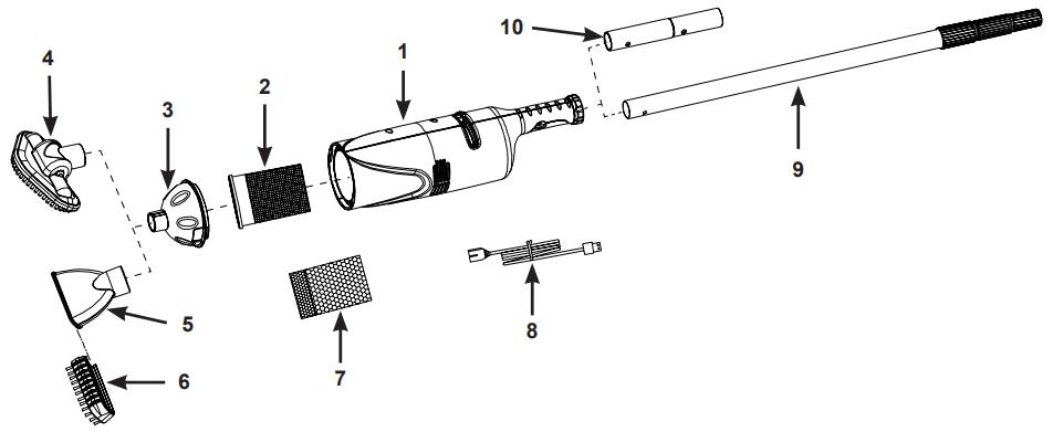 Pieces Detachees Intex Aspirateur Rechargeable Pour Piscine Et Spa